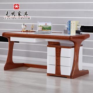 光明家具 现代简约写字桌  实木书桌 办公桌带袖箱实木电脑桌 WX7-6101-120 WX7-6101-160下架